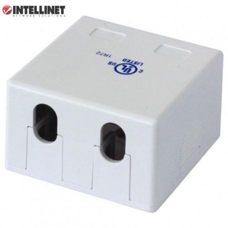 Obudowa gniazda Intellinet natynkowa Keystone, 2 porty, biała IWP-MD SC-2