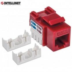 Moduł Keystone Intellinet RJ45 UTP Cat.6, czerwony IWP-MD C6/RED