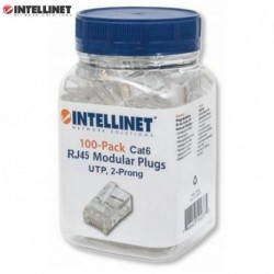 Wtyk Intellinet RJ45 8P/8C UTP Cat.6/linka 100szt. IWP-JAR-C6FL