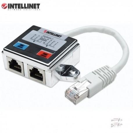 Rozdzielacz Intellinet RJ45x2 ekaranowany I-UAD ADAP-C2