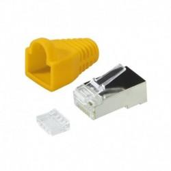 Wtyk RJ45 CAT.6 FTP LogiLink MP0022Y z osłonką, żółty 100szt