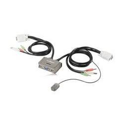 Switch KVM Edimax EK-2U2CA 2xUSB z kablami i audio