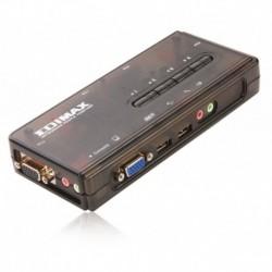 Switch KVM Edimax EK-UAK4 4xUSB z kablami, audio i mic