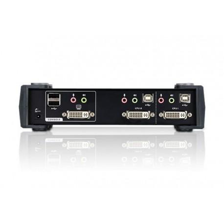 Przełącznik KVM ATEN DVI/USB/Audio CS1762A (CS1762A-AT-G) 2-port.