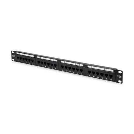 "Patch panel Digitus 19"" 24x RJ45 UTP kat. 5e 1U"