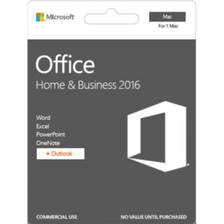 Oprogramowanie Office Home and Business 2016 Polish Medialess for Mac P2