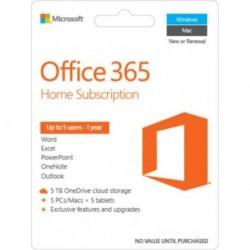 Oprogramowanie Office 365 Home 32-bit/x64 PL 1 rok Medialess