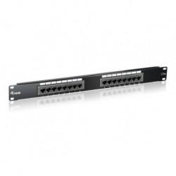 Patch panel Equip 16 port 1U kat.6 ekranowany czarny