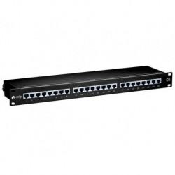 Patch panel Equip 24 port 1U kat.5e ekranowany czarny