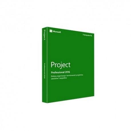 Oprogramowanie Project Professional 2016 Polish Medialess