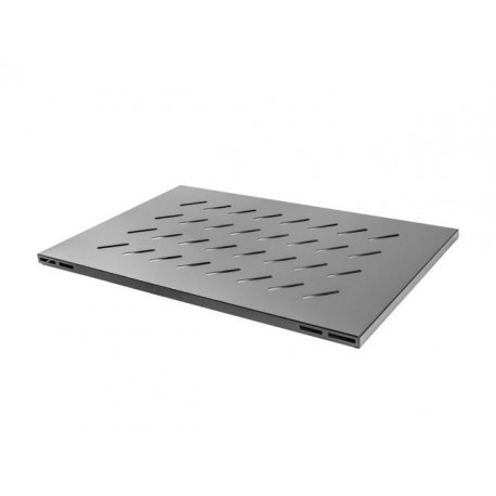 "Półka do szaf 19"" 1000mm czarna Lanberg (1U/465x715mm udźwig do 15kg, montaż 4-punktowy)"