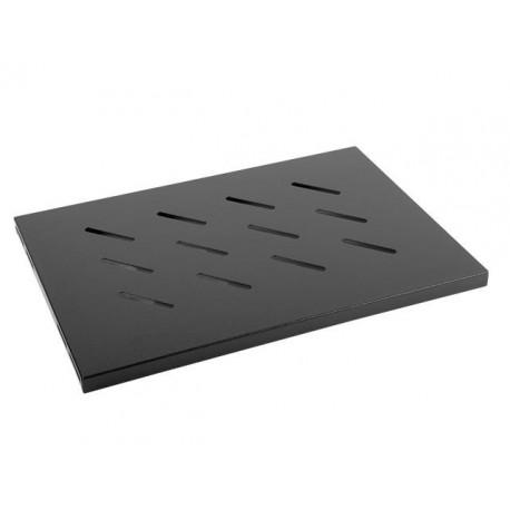 "Półka do szaf 19"" 450mm czarna Lanberg (1U/500x280mm udźwig do 20kg, montaż 4-punktowy)"