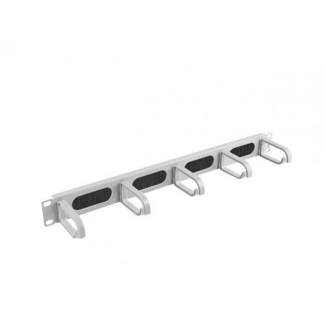 """Organizer kabli Lanberg AK-1203-S 19"""" 1U z 5 uchwytami panel szczotkowany - typ B szary"""