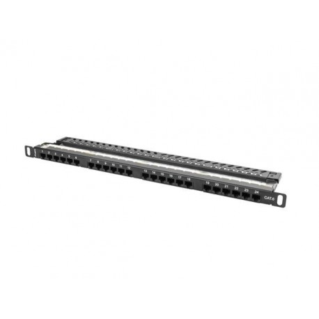 Patch panel Lanberg PPU6-0024-B 24 port 0.5U kat.6 czarny