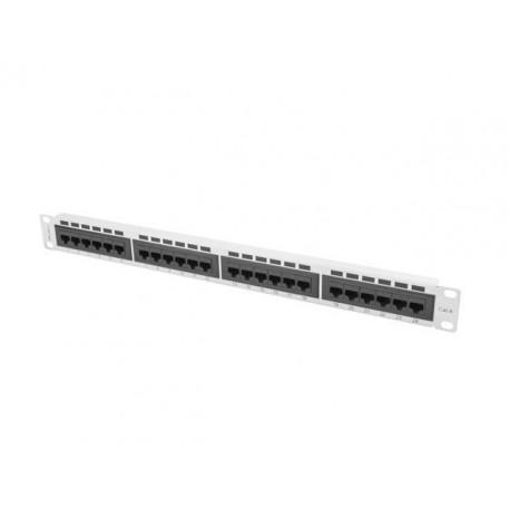 Patch panel Lanberg PPU6-1024-S 24 port 1U kat.6 ekranowany szary