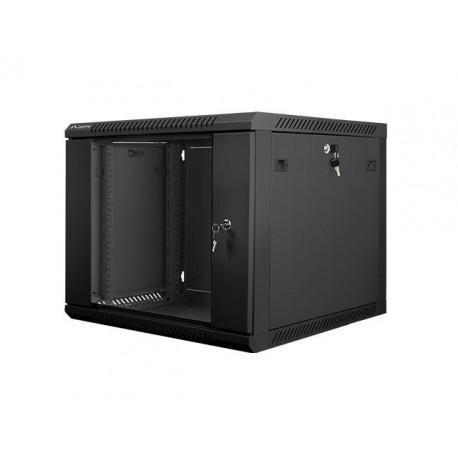 """Szafa instalacyjna wisząca 19"""" 9U 600x600 czarna Lanberg (flat pack)"""