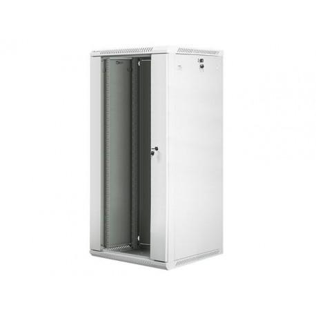 """Szafa instalacyjna wisząca 19"""" 27U 600x600 szara Lanberg (flat pack)"""