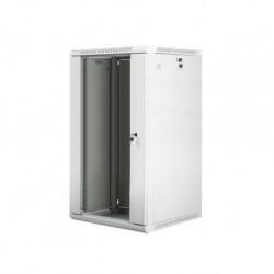"""Szafa instalacyjna wisząca 19"""" 22U 600x600 szara Lanberg (flat pack)"""