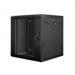 """Szafa instalacyjna wisząca 19"""" 12U 600x600 czarna Lanberg (flat pack)"""