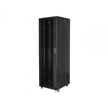 """Szafa instalacyjna stojąca 19"""" 42U 600x800 czarna Lanberg (flat pack)"""