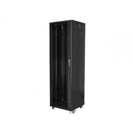 """Szafa instalacyjna stojąca 19"""" 42U 600x600 czarna Lanberg (flat pack)"""