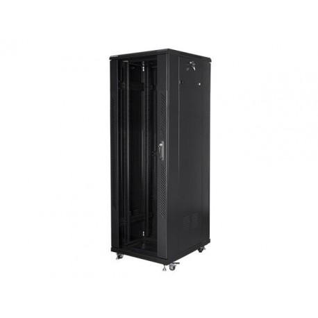 """Szafa instalacyjna stojąca 19"""" 37U 600x800 czarna Lanberg (flat pack)"""