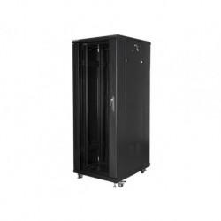 """Szafa instalacyjna stojąca 19"""" 32U 600x800 czarna Lanberg (flat pack)"""