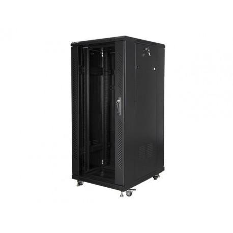 """Szafa instalacyjna stojąca 19"""" 27U 600x800 czarna Lanberg (flat pack)"""
