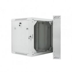 """Szafa instalacyjna dwusekcyjna wisząca 19"""" 12U 600x600 szara Lanberg (flat pack)"""