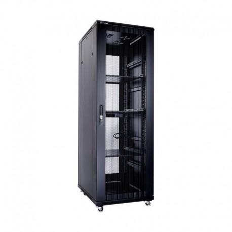 Linkbasic szafa stojąca rack 19'' 37U 600x800mm czarna (drzwi perforowane)