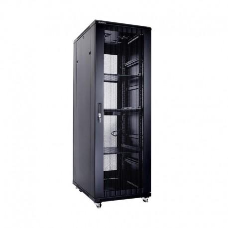 Linkbasic szafa stojąca rack 19'' 37U 600x1000mm czarna (drzwi perforowane)