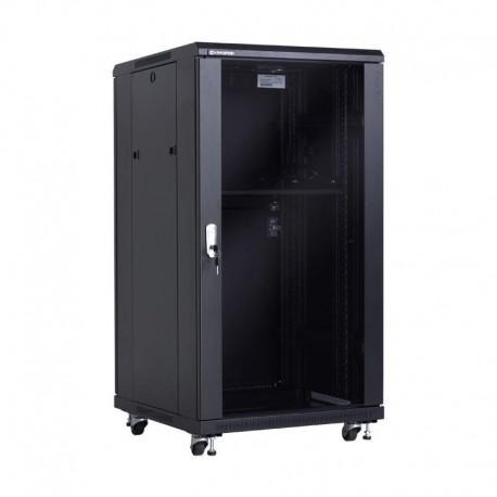 """Szafa 19"""" 22U wolnostojąca 600x600 drzwi szklane Linkbasic"""