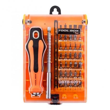 Zestaw bitów DigitalBox TOOL.BOX 35 elementów, z rękojeścią