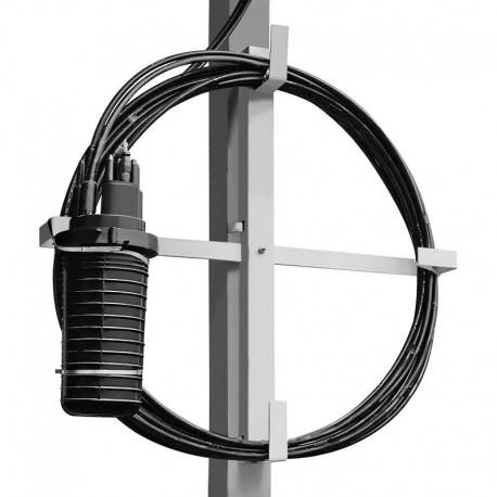 "Stelaż zapasu kabla Qoltec / Organizator | max.10"""