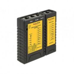 Tester kabli Delock RJ-45/4j-12/POE + moduł zdalny
