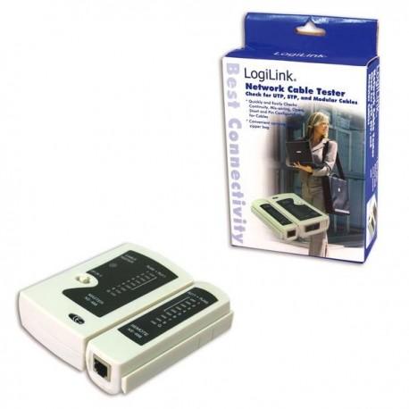 Tester kabli LogiLink WZ0010 złącza RJ11, RJ12, RJ45