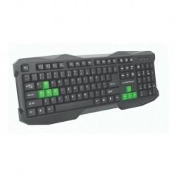"""Klawiatura przewodowa USB Esperanza """"Rook"""" Gaming czarno-zielona"""