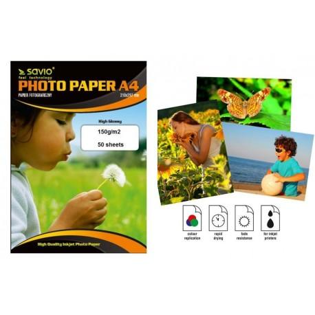 Papier fotograficzny SAVIO PA-09 A4 150g/m2 50 szt. błysk