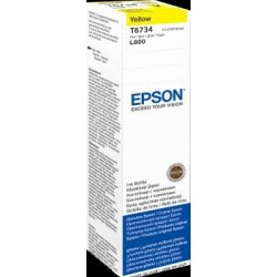Tusz Epson Yellow 70 ml (T6734) do Epson L800
