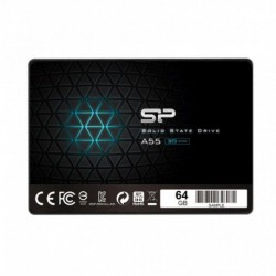 """Dysk SSD Silicon Power A55 64GB 2.5"""" SATA3 (520/330) 3D NAND, 7mm"""