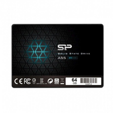 "Dysk SSD Silicon Power A55 64GB 2.5"" SATA3 (520/330) 3D NAND, 7mm"