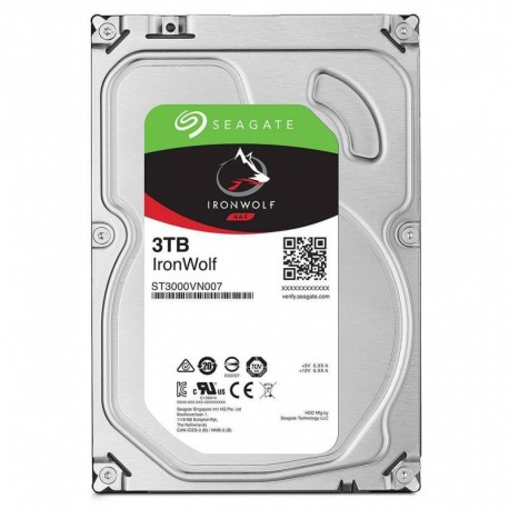 Dysk SEAGATE ST3000VN007 IronWolf™ 3TB 5900 64MB SATA III NAS