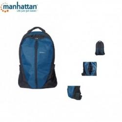 "Plecak do notebooka Manhattan Airpack 15,6"", czarno-niebieski A-NBZP06"