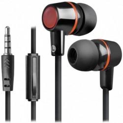 Słuchawki z mikrofonem Defender PULSE 428 douszne 4-pin czarno-czerwone