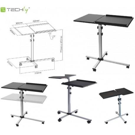 Stolik prezentacyjny Techly ICA-TB TPM-2 do projektora/notebooka, mobilny czarny