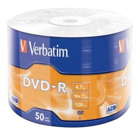 Płyta DVD-R Verbatim 16x 4.7GB Wrap szpindel 50szt.