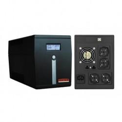 Zasilacz awaryjny UPS Lestar MCL-2000SSU L-INT AVR LCD 4xSCH 2000VA/1200W USB BLACK
