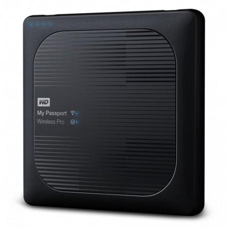 Dysk WD My Passport Wireless Pro 3TB WiFi AC, SD, USB 3.0, Black