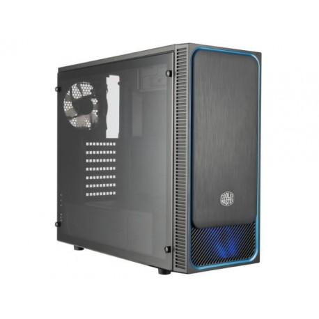 Obudowa Cooler Master MasterBox E500L Midi Tower bez zasilacza z oknem czarno-niebieska