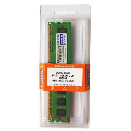 Pamięć DDR3 GOODRAM 4GB/1333MHz PC3-10600 CL9256x8 Dual Rank